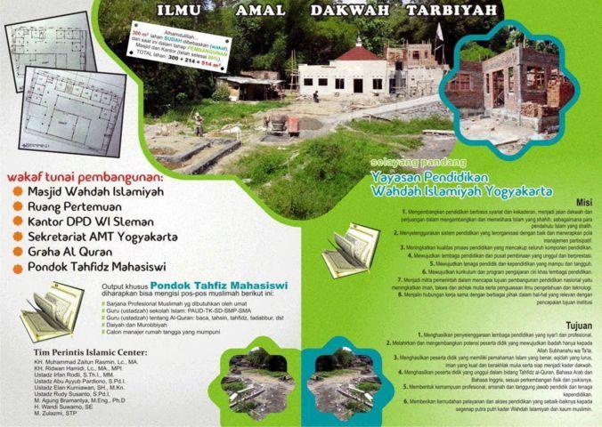 Islamic Center Wahdah Islamiyah Yogyakarta wakaf Tunai